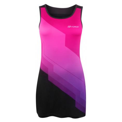 Dámské sportovní šaty Force Abby růžovo-černé