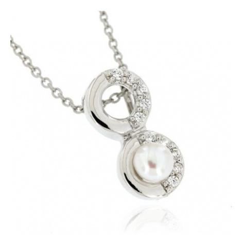 Dámský stříbrný přívěsek s perlou 7640