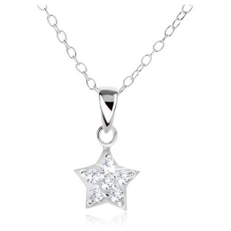 Náhrdelník ze stříbra 925, řetízek a zirkonová hvězda Šperky eshop