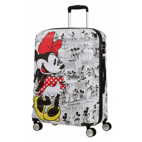 AT Dětský kufr Wavebreaker Disney Spinner 67/26 Minnie Comics White, 47 x 26 x 67 (85670/7484) American Tourister
