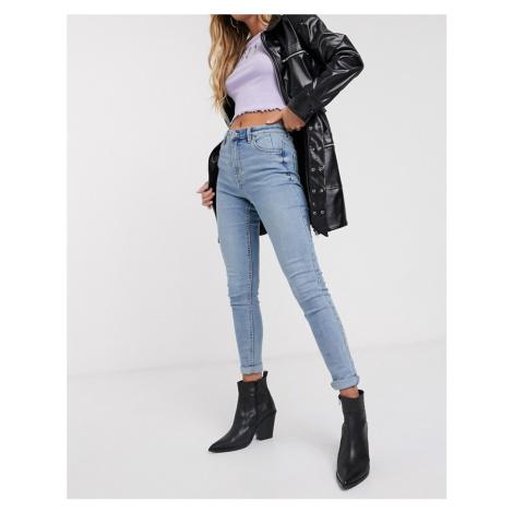 Bershka super skinny jeans in light blue wash