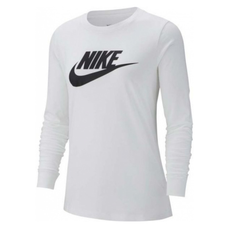 Nike NSW TEE ESSNTL LS ICON FTRA bílá - Dámské triko