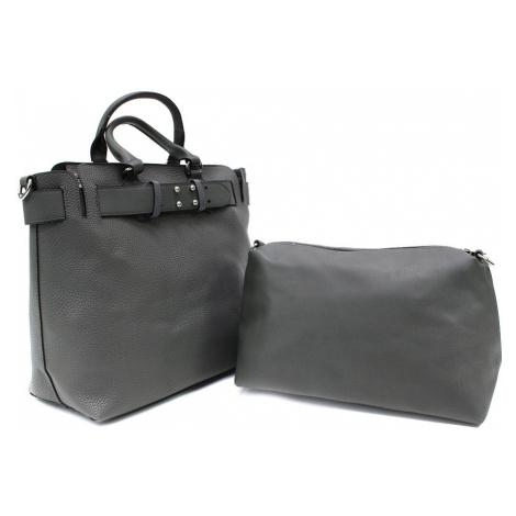 Tmavě šedý dámský elegantní kabelkový set 2v1 Berthe Tapple