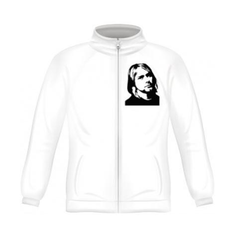 Pánská mikina zip FRUIT Kurt Cobain