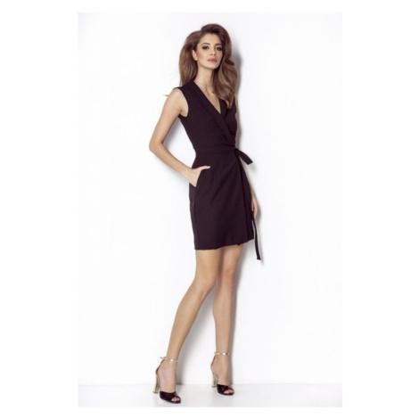 Dámské originální šaty v černé barvě bez rukávů SUZANNE IVON