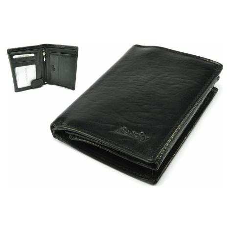 Kožená černá peněženka pánská Rovicky