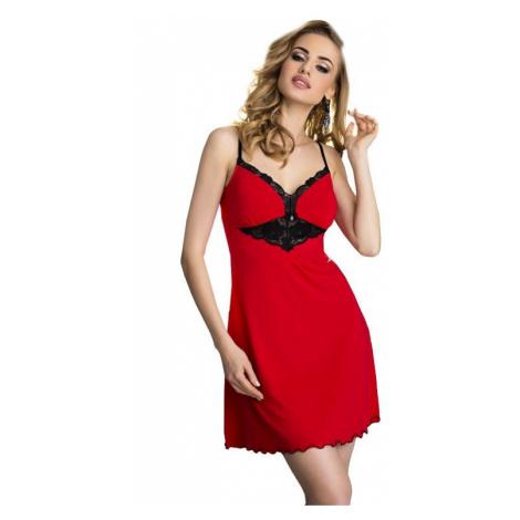 Dámská viskózová noční košilka Rossi červená Eldar
