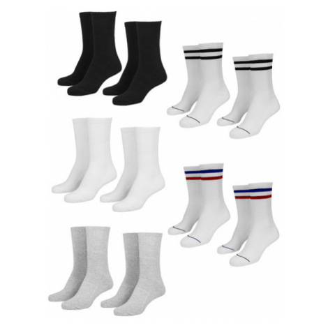 Urban Classics Sporty Socks 10-Pack blk/wht/gry+wht/nvy/rd+wht/blk