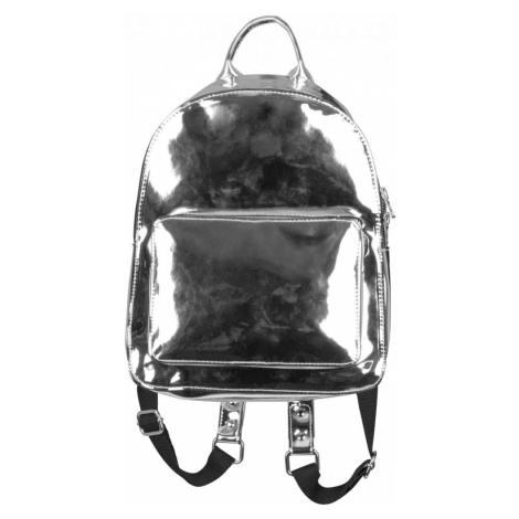 Midi Metallic Backpack - silver Urban Classics