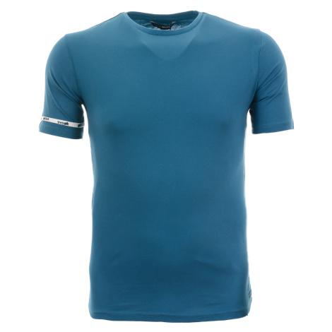 Pánské jednobarevné modré tričko Gas