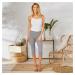 Blancheporte Jednobarevné korzárské kalhoty šedá