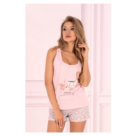 Dámské pyžamo Small Sweet Cake - LivCo Corsetti Růžová Livia Corsetti