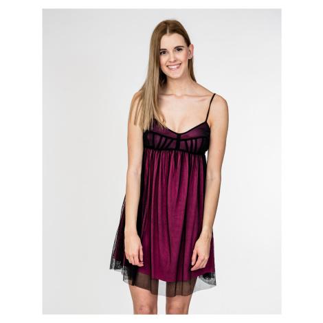 Fialovo-černé šaty - MET JEANS