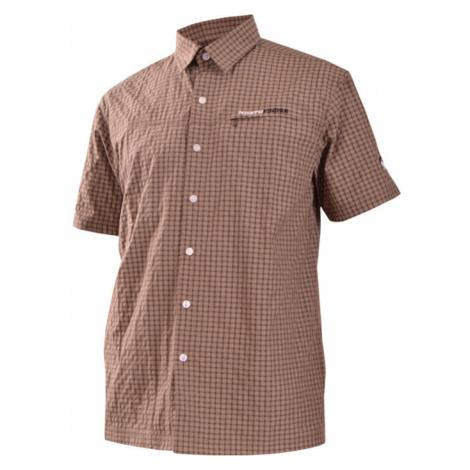 NORTHFINDER TERRENCE Pánská košile KO-3020OR293 hnědá