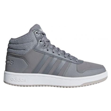 adidas HOOPS 2.0 MID šedá - Dámská volnočasová obuv