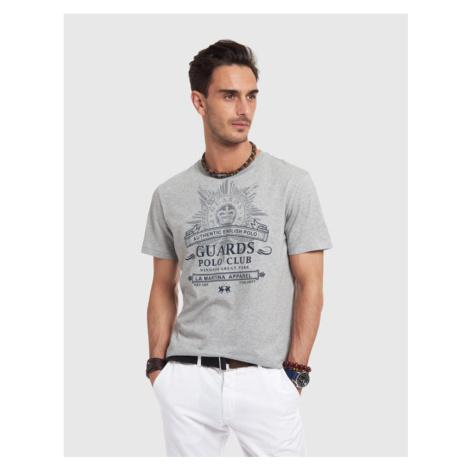 Tričko La Martina Man T-Shirt Short Sleeves Jers - Šedá