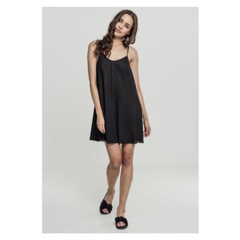 Ladies Jersey Pleated Slip Dress - black Urban Classics