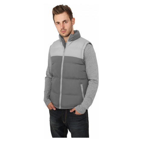 2-tone Bubble Vest - charcoal/grey Urban Classics