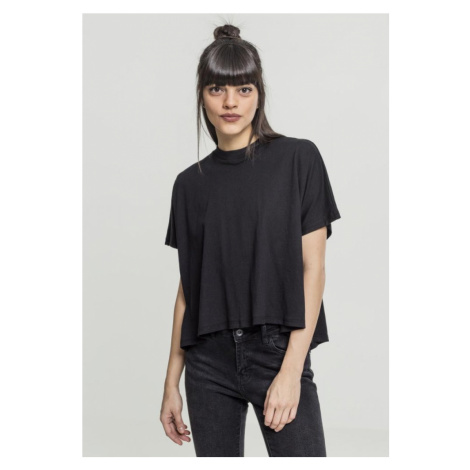 Ladies Overlap Turtleneck Tee - black Urban Classics
