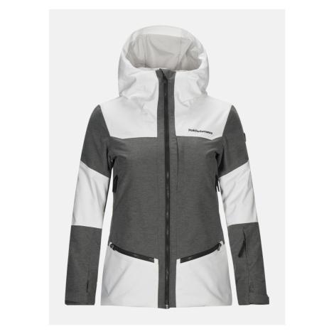 Bunda Peak Performance W Balmaz J Active Ski Jacket - Bílá