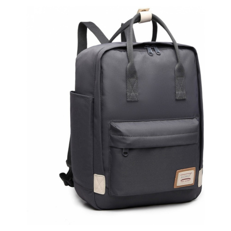Šedý elegantní nepromokavý batoh na notebook Herve Lulu Bags