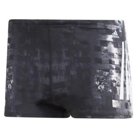 adidas PRO 3-STRIPES SWIM BOXER tmavě šedá - Pánské plavecké boxerky