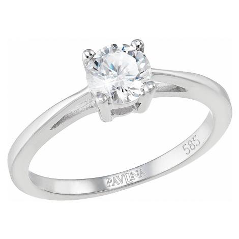Evolution Group Zlatý prsten 85032.1 bílé zlato s briliantem