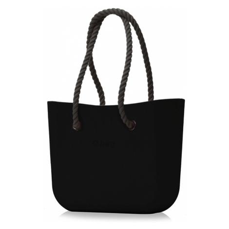 Kabelka obag černá s provazem černá O bag