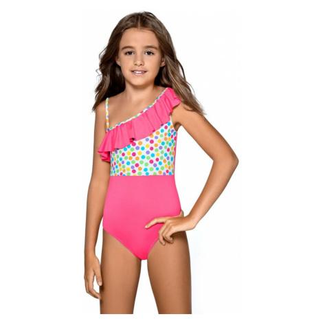 Lorin Dívčí jednodílné plavky Anetka růžové