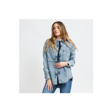 Urban Classics Ladies Denim Oversized Shirt light skyblue acid