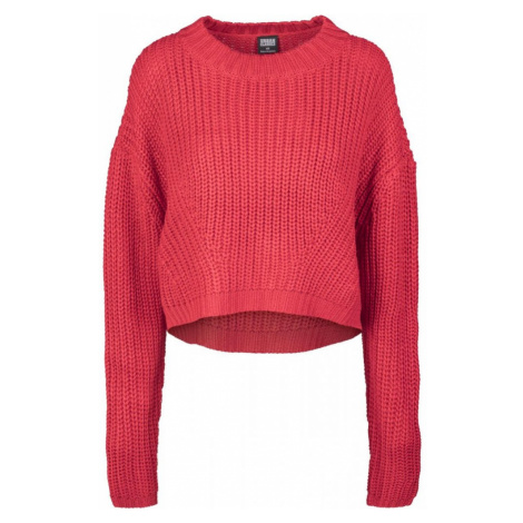 Ladies Wide Oversize Sweater - fire red Urban Classics