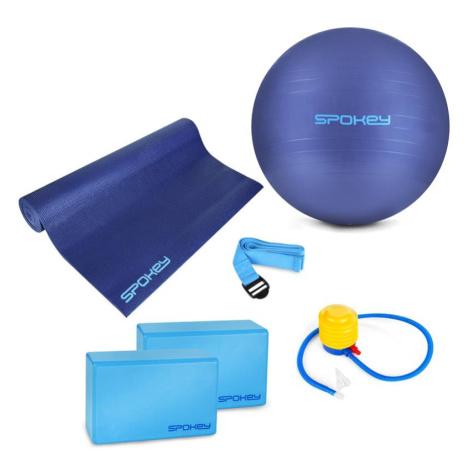 Spokey ASTEYA Jóga SET - podložka + gymnastický míč vč. pumpičky + blok + pásek