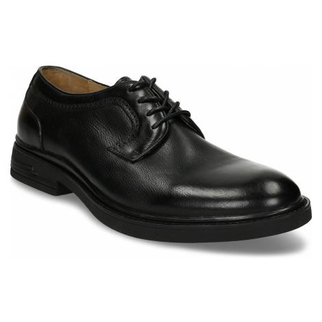Černá pánská chelsea obuv v kůži Baťa