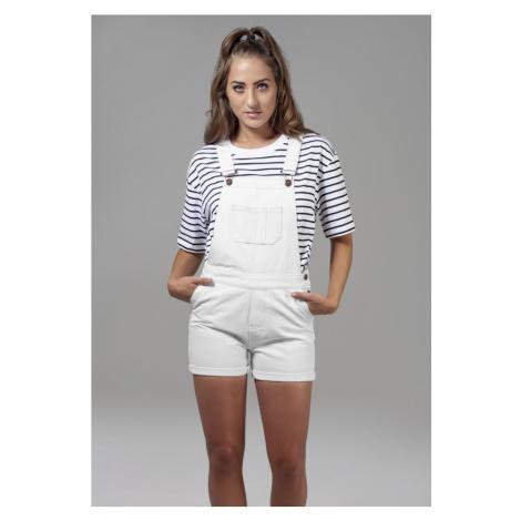 Ladies Short Dungaree - white Urban Classics