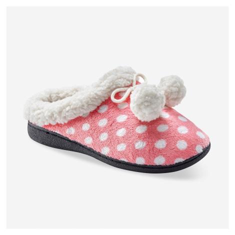 Blancheporte Fleecové pantofle s potiskem růžová