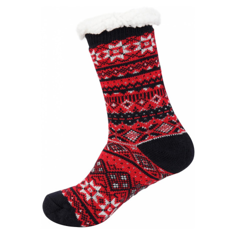 Silné teplné ponožky Alpine Pro SINNIR - červená