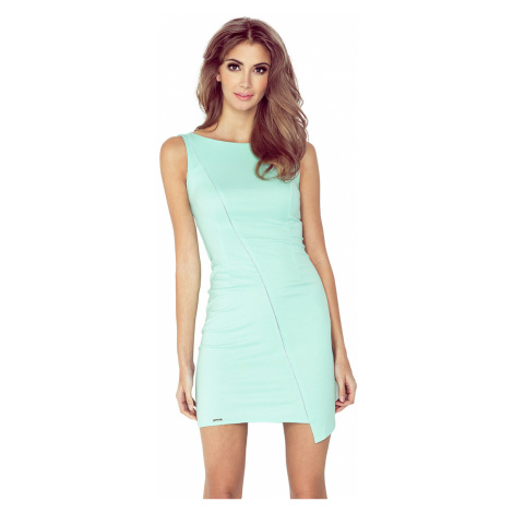 Mátově zelené asymetrické šaty s lemem model 4977538 Morimia