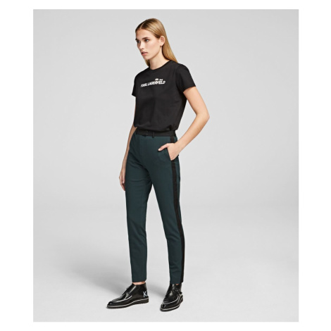 Kalhoty Karl Lagerfeld Tailored Cigarette Pants - Zelená