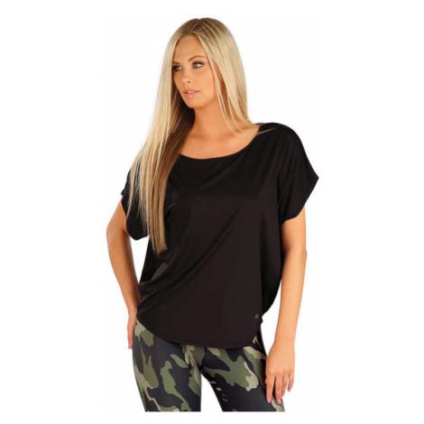 Dámské tričko s krátkým rukávem Litex 5A239 | černá
