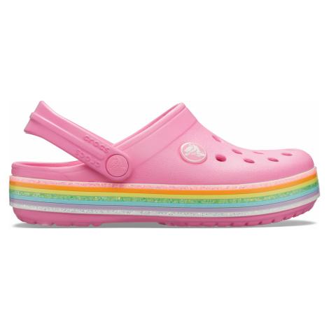 Crocs Crocband Rainbow Glitter Clg K Pink Lemonade C9