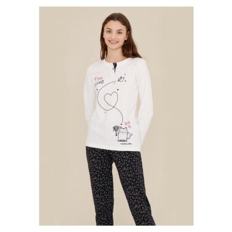 Dámské pyžamo Noidinotte FA7201 Bílá