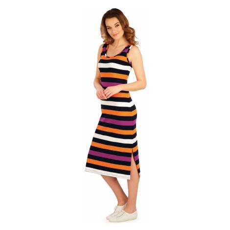 LITEX Šaty dámské dlouhé bez rukávu 5A035666 pruhy