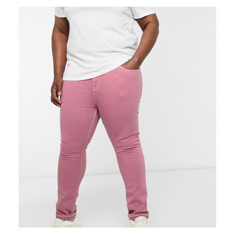 ASOS DESIGN Plus skinny jeans in pink