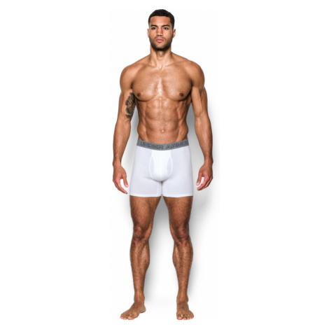 Sada 3 ks – Bílé boxerky Charged Cotton Under Armour