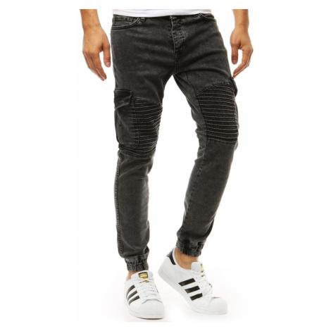 Men's denim joggers black pants UX1929 DStreet