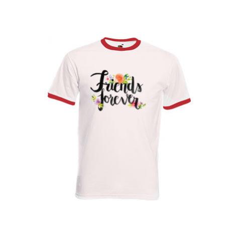 Pánské tričko s kontrastními lemy Friends forever