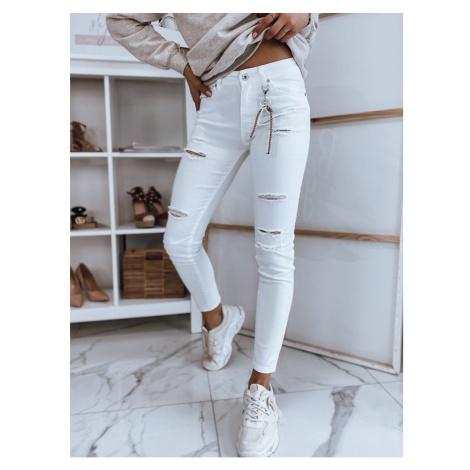 VIVA women's white jeans Dstreet UY0846