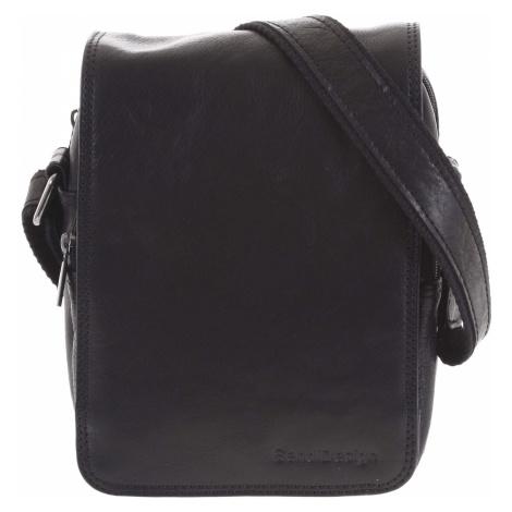 Pánská kožená taška přes rameno černá - SendiDesign Muxos Sendi Design