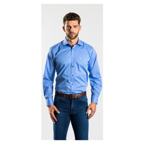 Modrá Classic Fit košeľa Alain Delon