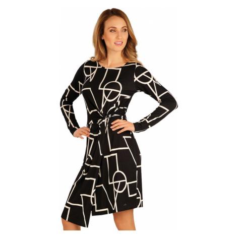 LITEX Šaty dámské s dlouhým rukávem 60050999 tisk